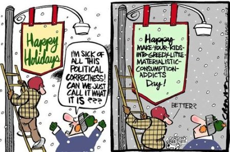 Happy Holidays Cartoon