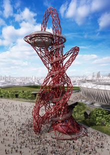 "Anish Kapoor's ""Orbit"" to be built in London."