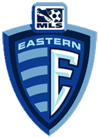 The Major League Soccer Eastern Conference log.